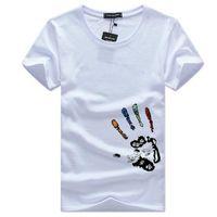 2019 Mężczyzna Moda Tshirt Lato Krótki Rękaw Okrągły Neck Tee Plus Rozmiar Drukowana Casual Bawełniana Tshirt z 6 kolorami Rozmiar S-5XL