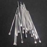 100PCS 실리콘 매트 컨테이너의 패킷 왁스 dabber 도구 스테인레스 스틸 컬러 소량 도구 드라이 허브 기화기 펜