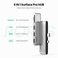 Frete grátis USB 3.0 HUB multi USB para USB3.0 porta HDMI SD / TF Docking Station para Microsoft Surface Pro 4/5/6 Splitter Adaptador HUB USB3.0