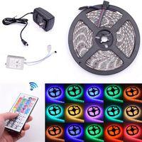 Luces de tira LED 5M RGB SMD3528 STRI Color de la luz cambiando con el control remoto para la iluminación del hogar Cama de cocina flexible