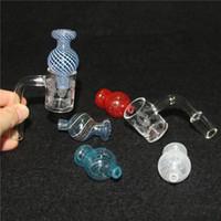 Domeless الكوارتز السجق 4MM أسفل سميكة quartzs السجق مسمار الذكور واضحة المسامير الكوارتز مشتركة السجق 90 درجة 14 ملم