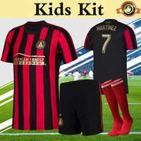 MLS 2019 Atlanta United Kids Kit Soccer Jersey Home Red Stri...