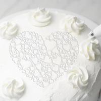 1pc Plastic bolo Stencils amor da flor do coração spray bolo Stencils aniversário Mold Decoração Padaria Ferramentas Template Fondant Mold Diy