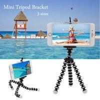 Mini telefono intelligente del polipo Mini Selfie Stick Supporto triplo Treppiede impermeabile multifunzionale Funzioni multiple Monopiede di gomma per la casa all'aperto