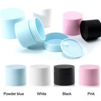Alta Qualidade 20G 30G 50G PP Cosméticos Creme Frascos Embalagem Garrafas com Tampa Vazio Loção Recipiente Preto Blue Rosa Branco