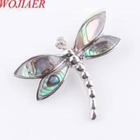 Wojier Naturalseeland Libelle Halsketten Anhänger Paua Abalone Shell Pearl Perlen Beste Freund Body Jewellery Geschenke DN3486