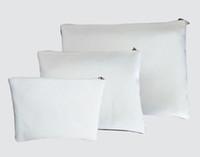 10PCS جديد وصول التسامي فارغة قماش حقيبة مستحضرات التجميل مع الجانبين واحدة الطباعة الحرارية الطباعة ماكياج حقائب 3SIZE