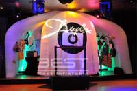 5m removível Photo Booth Tent Hot Fun Iluminação inflável Photobooth com luzes LED weddding eventos do partido decoração