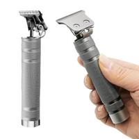 حار t- شكل قابلة للشحن اللاسلكي الشعر المتقلب الرجال تحدد الشعر المقص الكهربائية آلة قطع الشعر اللحية حلاقة فضية