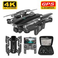 S167 GPS с камерой 5 г RC горючего дронов с HD 4К-беспроводной доступ в интернет с FPV складной от точки летающий фото видео вертолет игрушка