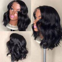 Kurze Spitze-Front-Menschenhaar-Perücken brasilianisches Remy-Haar natürliche Welle Bob Perücke mit Pre Zupforchester Hairline-Spitze-Perücke für schwarze Frauen