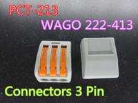 100pcs / lot Universal Cable Compact Wire Connector Connettori 3 PIN Diredutor PCT-213 PCT213 WAGO 222-413 Disponibile