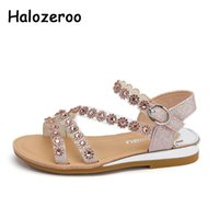 New Summer Kids Flower Princess Sandals Children Rhinestone ...