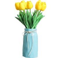 Nordic cerâmica simples vaso presentes hidropônico vaso de flor Inserida Flores Decorações Home Living Room Decoração Dropshipping