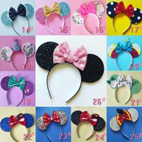 new 26 styles Sequin Crown Mouse Ears Headbands Boutique Gir...