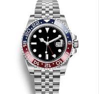 2019 Новые спортивные модные часы Mens GMT Часы автоматические юбилейные мужские часы Orologio di Lusso Orologi da Uomo Blue Black мужские наручные часы