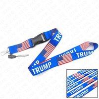 1lot / 10piece Tarjeta pecho de EE.UU. Correa América Flage Niden Trump cintas de teléfono cadenas que cuelgan Keys titulares colgante más nuevo 2020 llaveros D61603