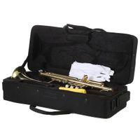 Öğrenci Okul Band Golden için Yeni Başlangıç Boya Altın Damla B Ayarlanabilir Bb Trompet ile Ağızlık Kılıf Seti