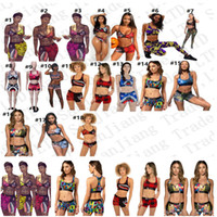 18 Colors Swimwear Women Swimsuit Two Piece Bikini Set Vest ...