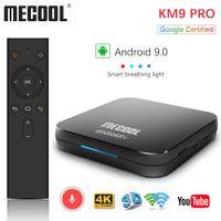 구글 인증 Mecool KM9 프로 ATV2G16g4G32G 안드로이드 9.0 텔레비젼 상자 Amlogic S905X2 음성 입력 듀얼 와이파이 스마트 TV