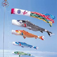 Koinobori Koi Nobori Carpa antivento fiamme Streamer colorato bandiera pesce decorazione Med Pesce bandiera aquilone appeso decorazione della parete 40 cm 55 cm 70 cm 100 cm 150 cm