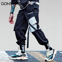 GONTHWID 2019 Poches Pantalons Cargo Harem Les hommes occasionnels Joggers Baggy Trousers tactique Harajuku Streetwear Hip Hop Mode Swag V191109
