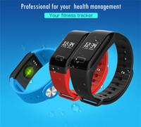 Pressão F1 inteligente Pulseira podômetro inteligente Coração Banda Rate Monitor Pulsometer Inteligente Relógios Sangue medição de pulso Assista