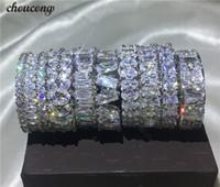 Choucong 9 Stilleri Ebedi Parmak yüzük Elmas Kadınlar Için 925 Ayar gümüş Nişan Düğün Band Yüzükler Erkekler bijoux Hediye