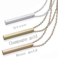 Personalisierte Goldbarren Halskette Namensschild Delicate Horizontal Bar Gold Namensschild Halskette