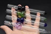 Оптовая красочный 5-дюймовый густой пьянящий тыквы стеклянный фильтр сигареты стакан соломы фильтр наконечник против ОГА фильтра