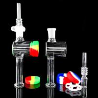 Nouveau verre NC avec 14mm Quartz Conseils Keck Kit clip en silicone pour conteneur Récupérateur NC Fumer pipe à eau Dab huile accessoire fumée Rig