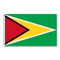 Guiana Bandeira Nacional 3x5FT 150X90CM 100D 100% poliéster bandeira ilhós de bronze para decoração de suspensão Publicidade Bandeira personalizado