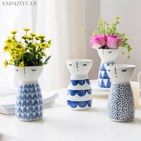 girl Vase Ceramic Home Decor Flower Pots Planters Porcelain ...