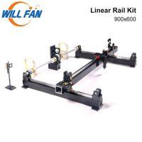 Guía metal mecánica Componente Conjunto lineal voluntad del ventilador 900x600mm Rail Kit Ensamble CNC 9060 Co2 de grabado láser máquina del cortador