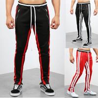 2019 внешней торговли новые мужские случайные спортивные брюки Европы и Соединенных Штатов мода цвета соответствия спортивные фитнес-брюки мужские F