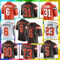New Arrival. Top Sale 6 Baker Mayfield Clevelanwd Brons Jersey 80 Jarvis ... 6f36e7148