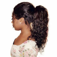 Crépus bouclés queue de cheval pour les femmes noires du Brésil Ecrêtage noir naturel en queue de cheval prolongements de cheveux humains Remy cheveux naturels 120g