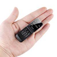 """Kilitli Mini Kapak Cep Telefonu J9 0,66"""" En Küçük Öğrenci Cep Telefonu Kablosuz Bluetooth Dialer FM Magic Ses Kulaklık Kulaklık İçin Çocuk"""