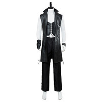 Devil May Cry 5 novo personagem V jaqueta de couro sem mangas jogo cosplay traje masculino trench coat Halloween
