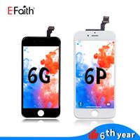 Efaith No Dead Pixel High Color LCD Ekran dla iPhone 6 / 6Plus biały wyświetlacz LCD z ekranem dotykowym Digitizer Kompletna darmowa wysyłka