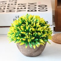 Artificial Pot Fake Plastic Decoration Potted Plants Garden ...