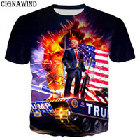 2019 New Funny Trump on the Tank uomo / donna 3D stampa t-shirt stile harajuku / felpe / felpe / gilet / top estivo