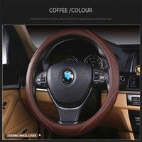 Geely MK Çapraz Emgrand EC7 Araç Jant Kapağı Araç Aksesuarları Direksiyon Seti Cubre Volante Oto Couvre Volant için Deri Direksiyon Kapak
