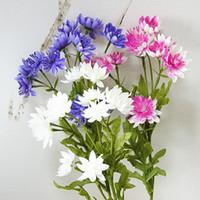 Hermoso Loto Crisantemo Flores Artificiales Para Otoño Otoño Jardín de Su Casa Decoración de Boda Flores Falsas Artificielle Fleur