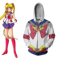 Asian Size Japan Anime 3D Sailor Moon Women Cosplay Costume Halloween Jacket Hoodie Coat Casual Uniform Suit