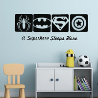 Wall Sticker rimovibile Spiderman Batman Capitan America Super Hero Wall Decal bambini Ragazzi Room Decor Eroe per parete Style