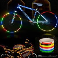 Прочный не выцветает Велоспорт светоотражающие наклейки отражатель велосипед безопасности обод колеса наклейка Лента безопаснее велосипед свет мотоцикл велосипед наклейка