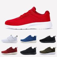 Nike Roshe Run Tanjun عالية الجودة إمرأة رجل الأولمبية في لندن Tanjun تشغيل الاحذية الثلاثي الصورة أسود أبيض أحمر وردي zapatos تنس المدربين الرياضة أحذية رياضية