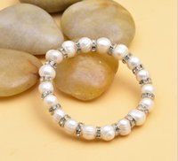 Braccialetti di perle d'acqua dolce da 10 mm per donna Charm Bohemian GB775