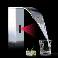 Chrome mano automática toque toque caliente fría mezclador batería Power Free Sensor Faucet baño fregadero montado en la cubierta